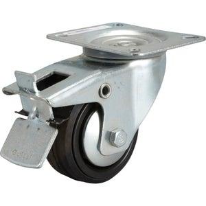 Image : Roulette pivotante à freins à platine, Diam.80 mm