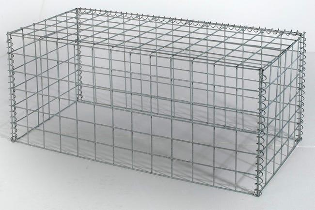 Gabion En Aluminium Zinc Gris 100 X 50 Cm Leroy Merlin