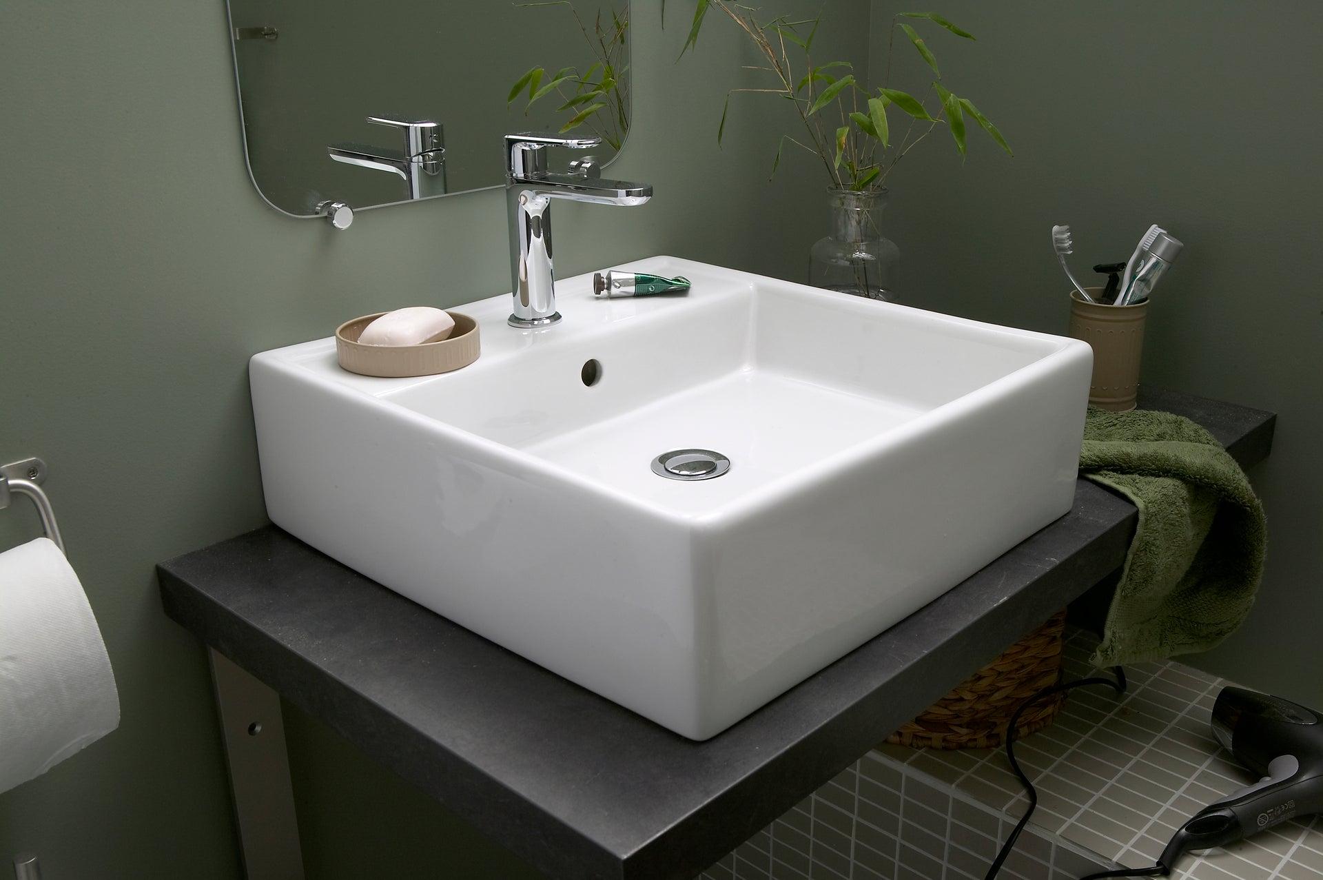 Vasque à poser céramique l.17 x P.17 cm blanc Edge