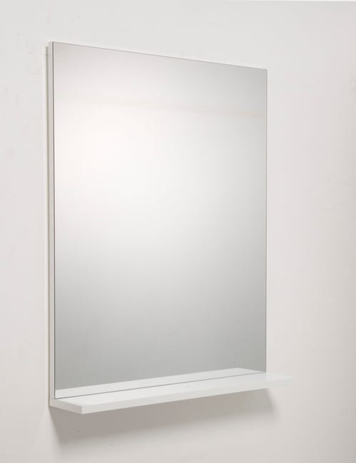 Miroir Avec Tablette Blanc L 60 0 Cm Opale Leroy Merlin