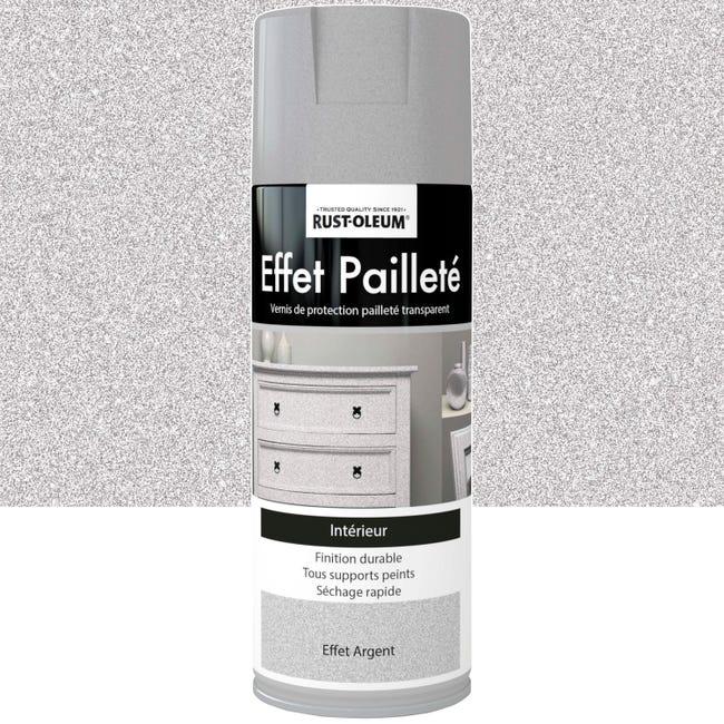 Peinture Aerosol Effet Paillettes Paillete Rustoleum Gris Argent 0 4 L Leroy Merlin