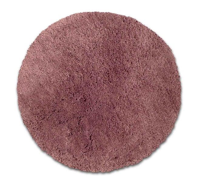 Tapis violet rond Diam.650 mm Agathe