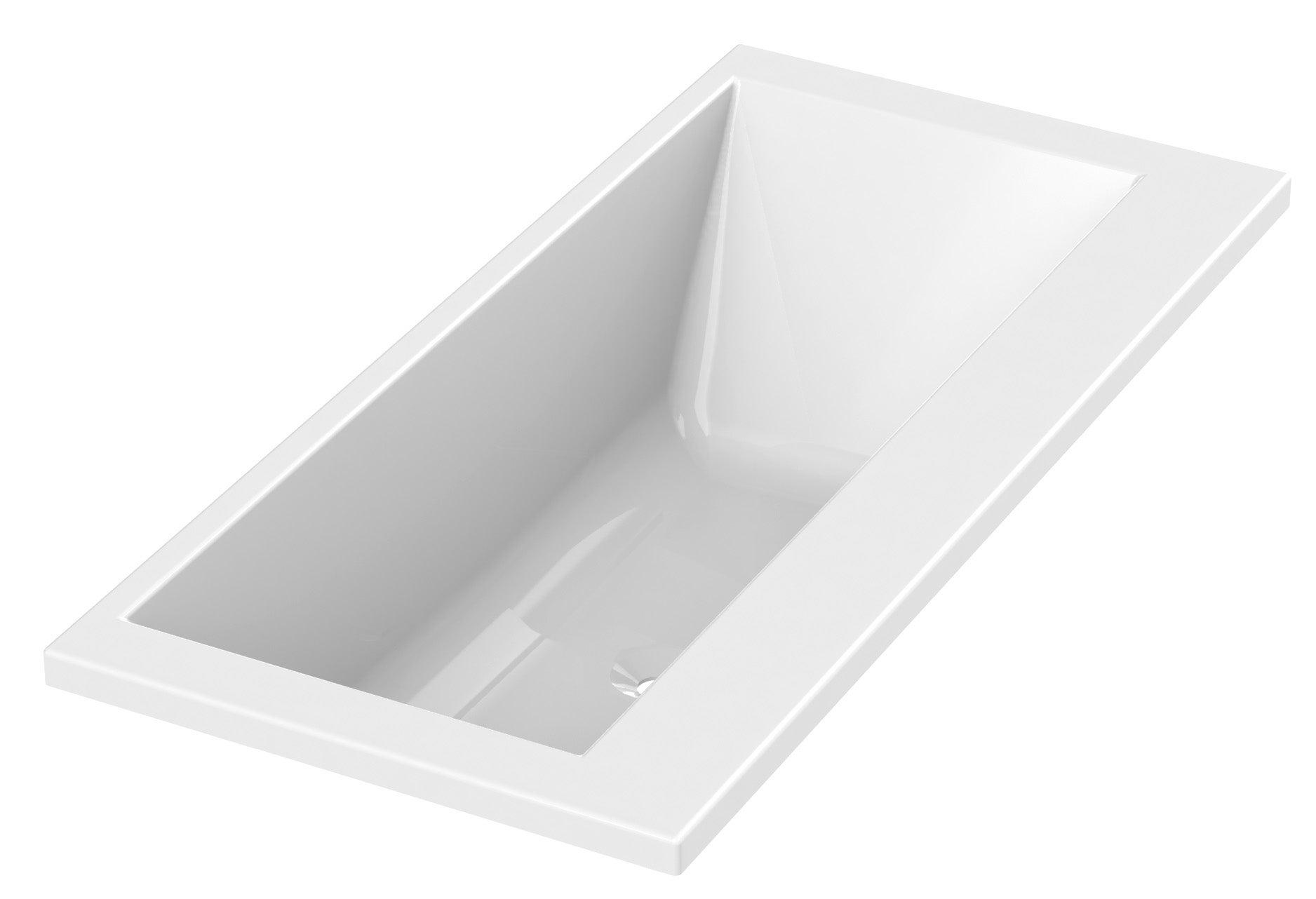 Baignoire Rectangulaire L 180x L 85 Cm Blanc Sensea Premium Design Leroy Merlin