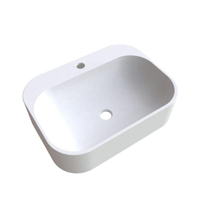 Vasque A Poser Resine De Synthese L 50 X P 37 Cm Blanc Pal Leroy Merlin