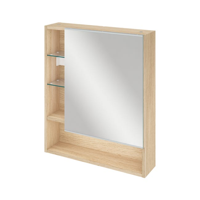 Armoire De Toilette L 60 Cm Chene Naturel Sensea Easy Leroy