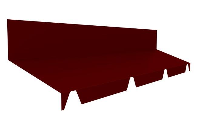 Faitiere Contre Mur Pour Plaque Nervuree Rouge L 2 1 M Leroy Merlin