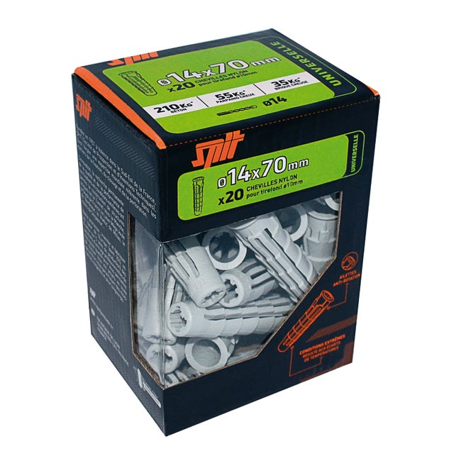Lot De 20 Chevilles Spit Diam14 Mm X L70 Mm