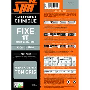 Image : 1 cartouche de scellement chimique gris SPIT