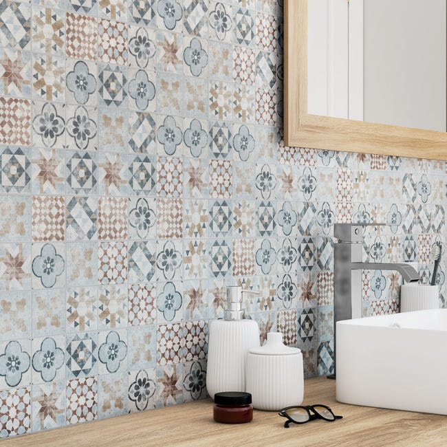 Mosaique Sol Et Mur Villa Mix Couleur 6 17 X 6 17 Cm Leroy Merlin