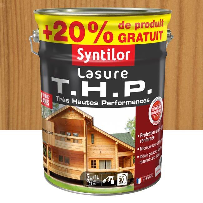 Lasure Syntilor Thp 20 8 Ans Incolore Satine 6 L Leroy Merlin