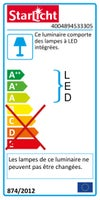 Réglette Starled universal, LED 1 x 11 W, LED intégrée