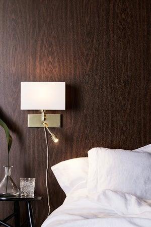 Image : Applique avec liseuse métal laiton / blanc MARKSLOJD Savoy 2 lumière(s)