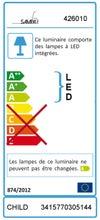 Veilleuse, led intégrée Child SAMPA HELIOS, 1 W