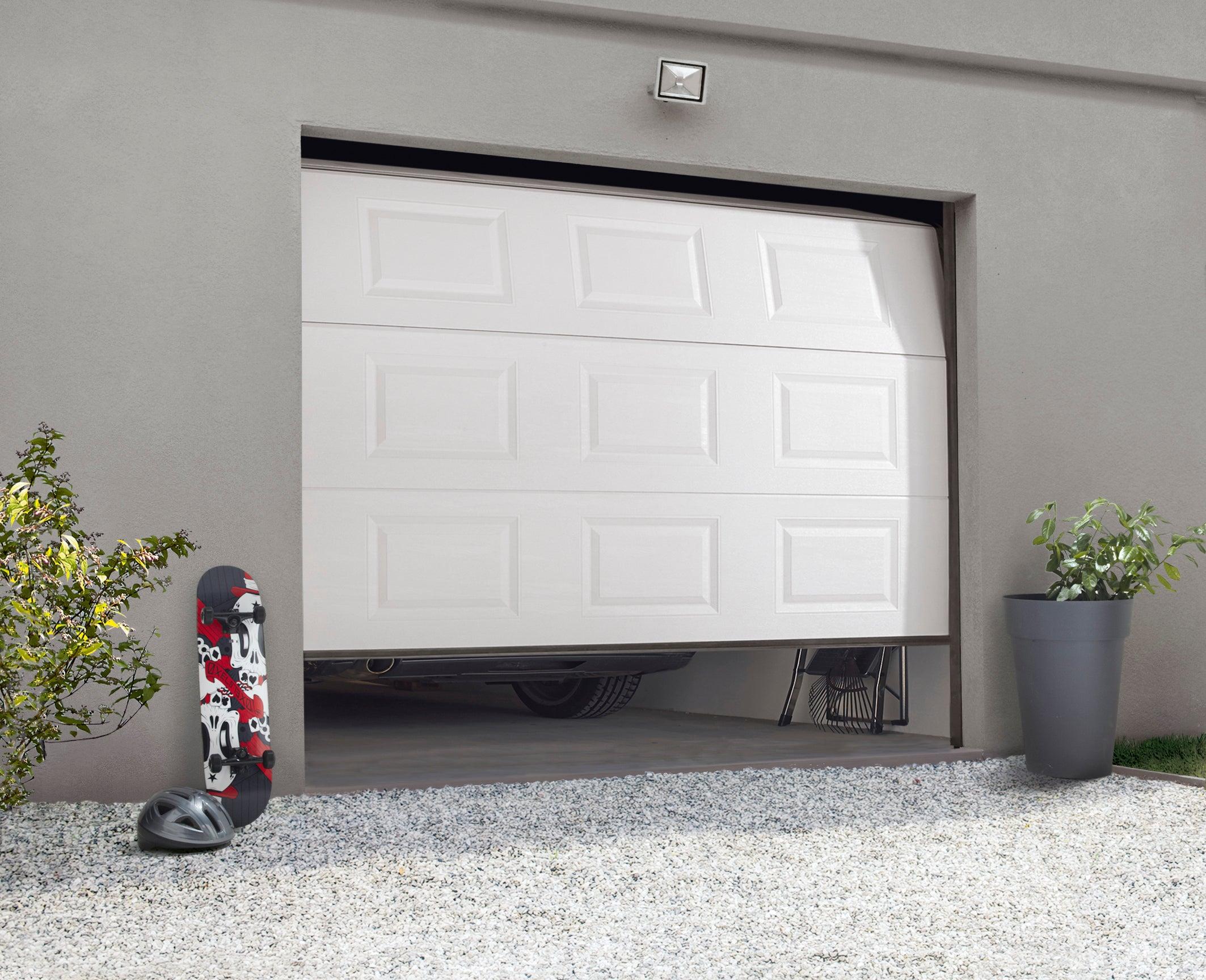 Porte De Garage Sectionnelle Motorisee Artens Essentiel H 200 X L 240 Cm Leroy Merlin