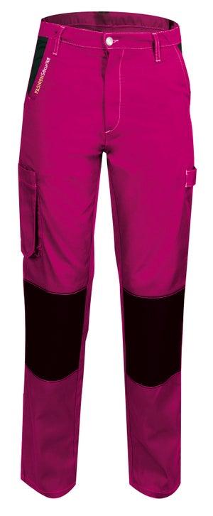 Pantalon de travail FASHION SECURITE Pep's, rose / noir taille 40-42