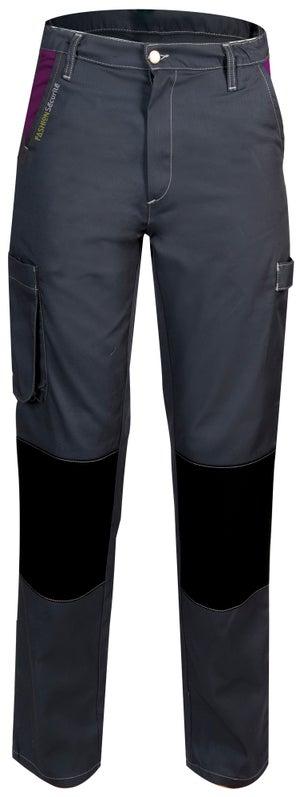 Pantalon de travail FASHION SECURITE Pep's, gris / violet taille 36-38