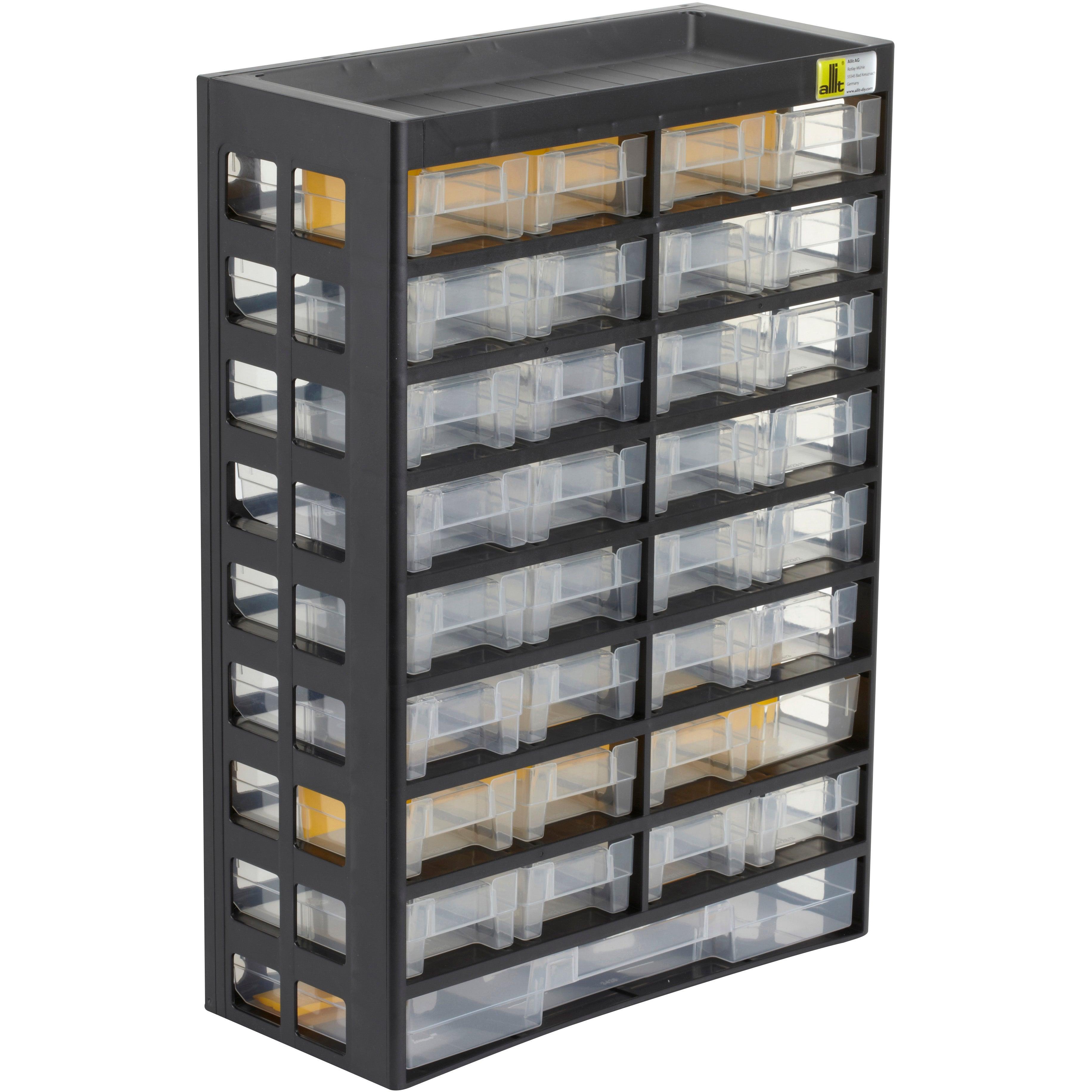 Casier A Vis Plastique 33 Tiroirs H 43 5 X L 30 3 X P 13 6 Cm Leroy Merlin