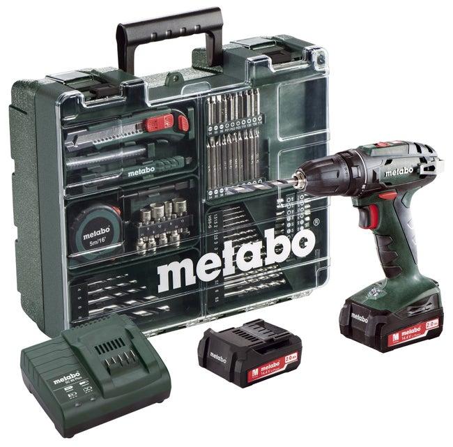 Perceuse Sans Fil Metabo 144 V 2 Ah 2 Batteries Coffret 74 Accessoires