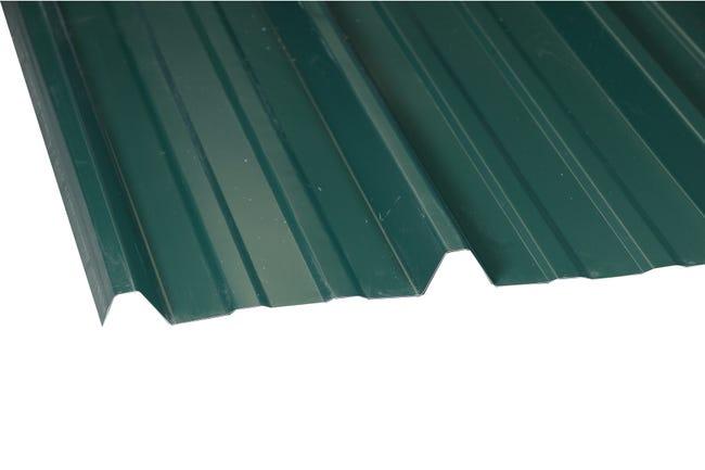Plaque De Toiture Nervuree Acier Galvanise Vert L 1 05 X L 2 M Sedpa Leroy Merlin