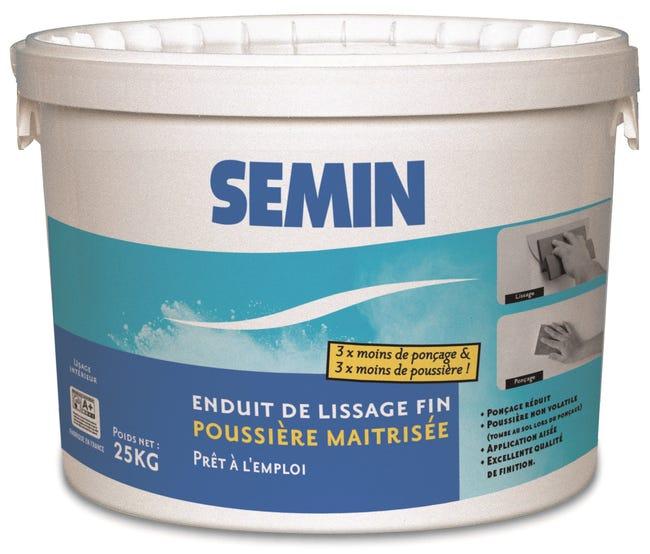 Enduit De Lissage Poussiere Maitrisee Semin 25 Kg Leroy Merlin