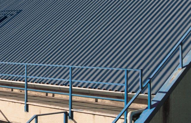Plaque De Toiture Petite Onde Pvc Bleu Ardoise L 1 04 X L 2 M First Plast Leroy Merlin