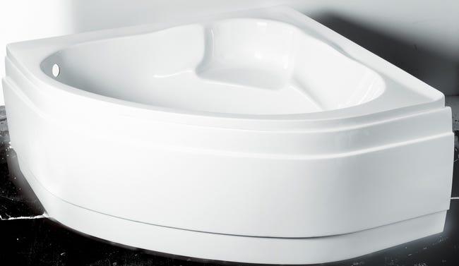 Tablier De Baignoire L 135x L 135 Cm Blanc Nerea Leroy Merlin