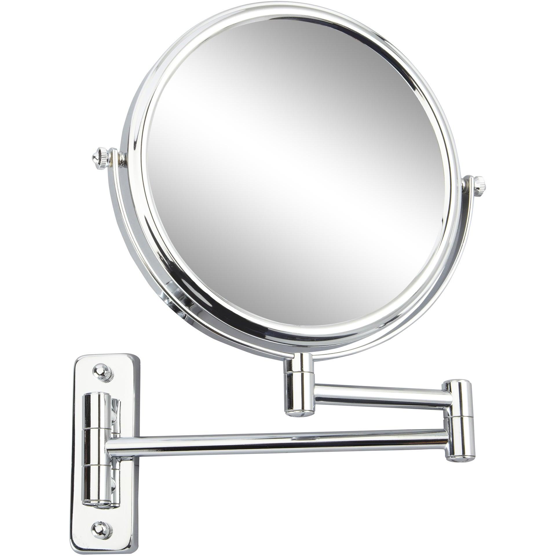 Miroir Grossissant X 10 Rond A Fixer Percage H 20 X L 20 X P 3 5cm Constance Leroy Merlin