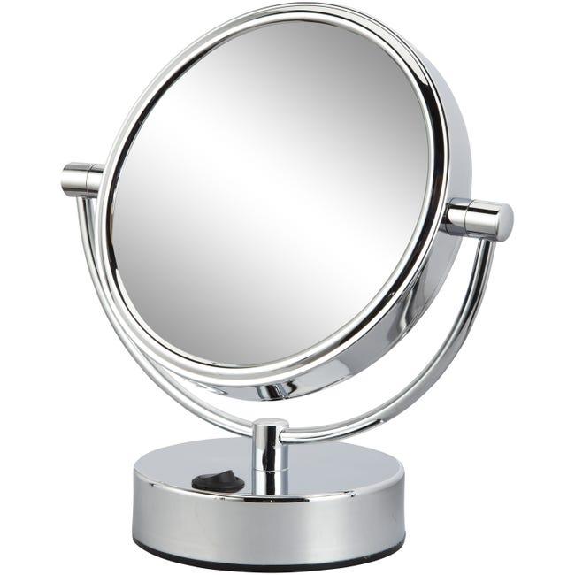 Miroir Grossissant X 5 Rond A Poser H 17 X L 17 X P 12 Cm Mathilde Leroy Merlin