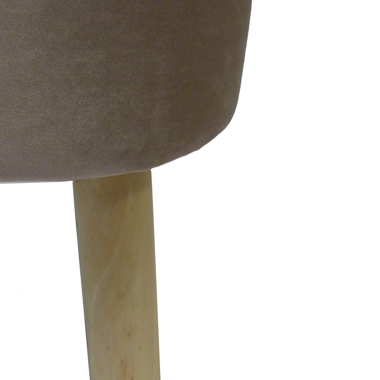 Pouf d'intérieur taupe Trépied velours, l.30 x H.35