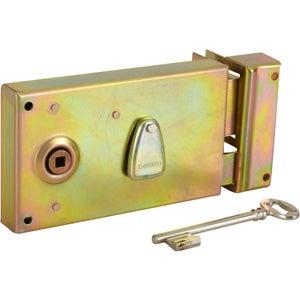 Image : Serrure en applique THIRARD, axe 58 mm, à poignée, ouverture à droite