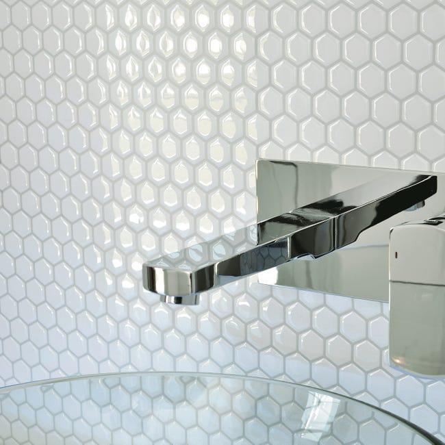 Credence Adhesive Imitant Carrelage Hexago L 28 63 X L 24 46 Cm Smart Tiles Leroy Merlin