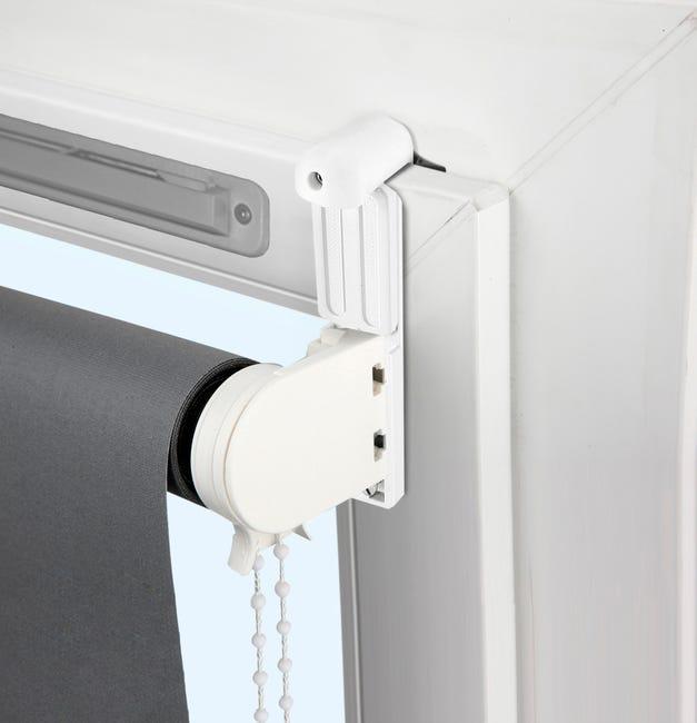 Kit De 2 Supports Avec Joint Et Extension Blanc Pour Tout Type De Store Leroy Merlin
