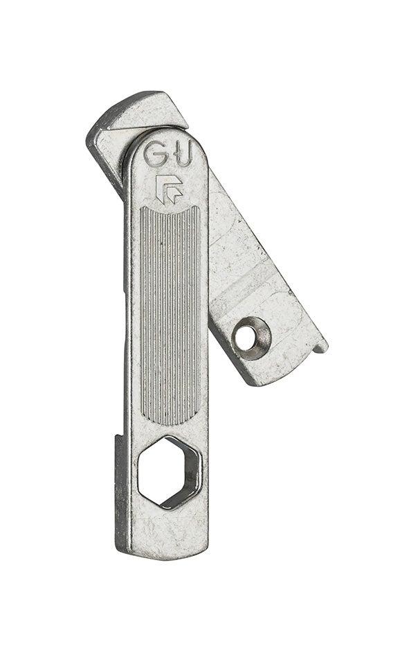 Entrebâilleur de fenêtre droite acier gris 13951