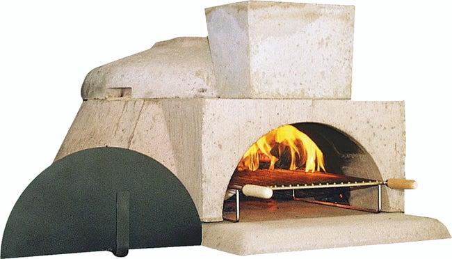 Four En Béton Réfractaire Gris Rosé Le Pizzaiollo L110 X L131 X H61 Cm