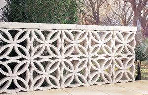 Claustra blanc, l.40 x H.20 x P.9 cm