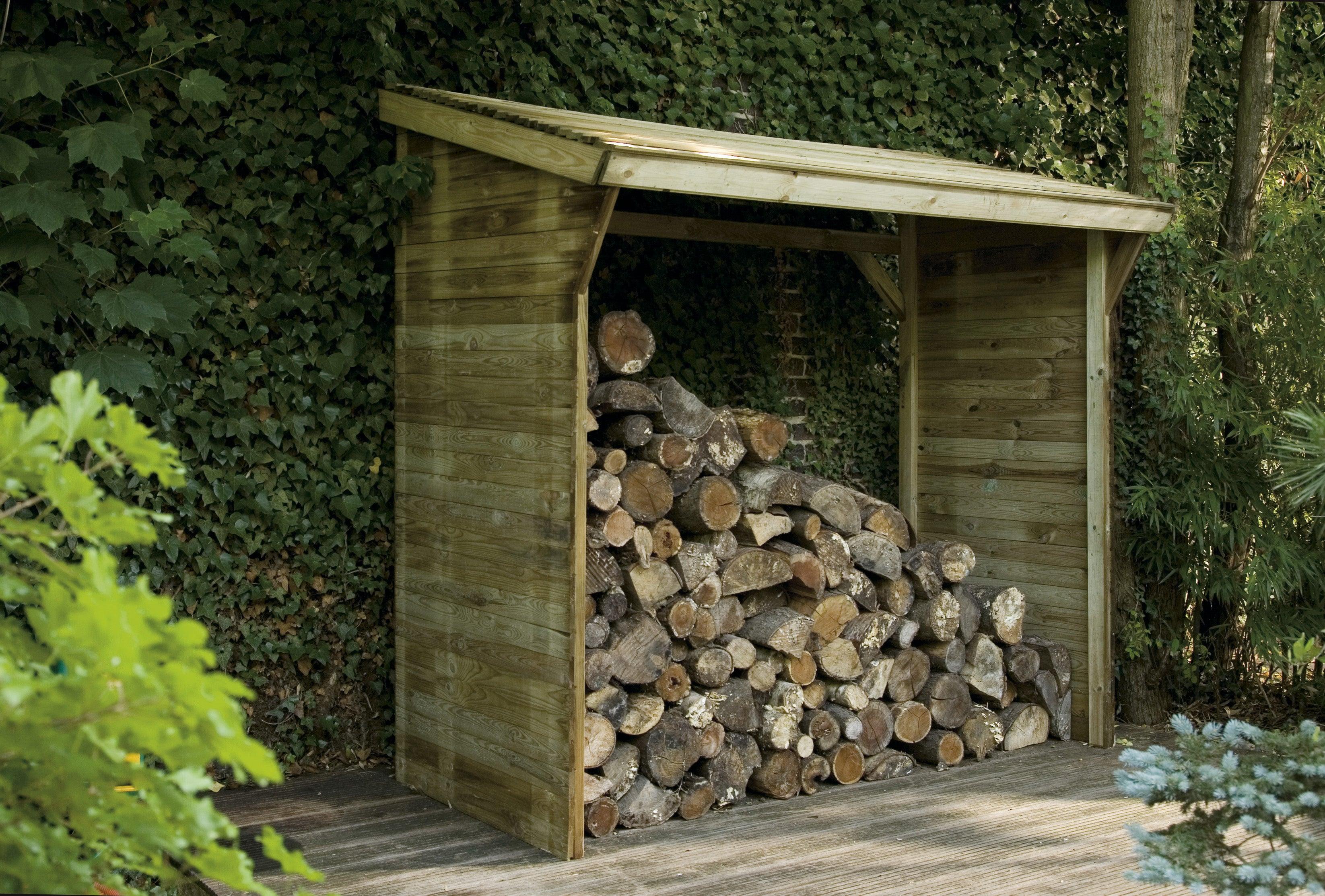Bûcher Bois Memphis Naturel L221 X H203 X P1145 Cm