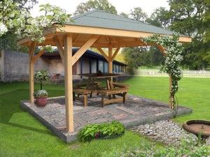 Kiosque pour terrasse ou balcon Ki a28.01, acier marron