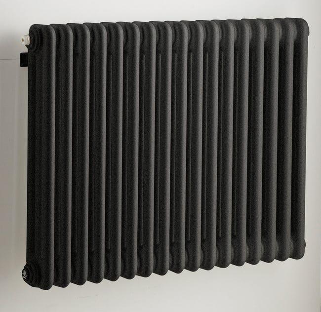 Radiateur Chauffage Central Tesi Noir L 76 5 Cm 1030 W Leroy Merlin