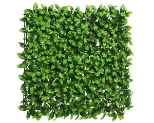 panneau feuilles plastique sans sac poly 8x50x50cm vert