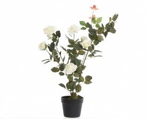 Botte de roses en PES 80CM, Blanc