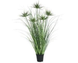 Herbes artificiels à 5 fleurs à ombelles en pot diamètre 60 cm x hauteur 92 cm