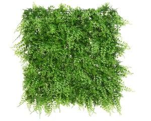 Panneau fougere plastique sans sac poly 9x50x50cm Vert