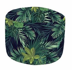 Image : Pouf de sol vert Canopée, D 45 x H 45 cm