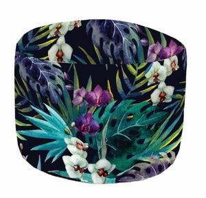 Image : Pouf de sol multicolore Aquarelle, D 45 x H 35 cm