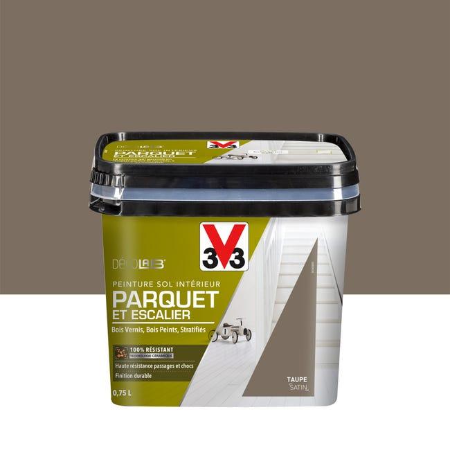 Peinture Sol Interieur Parquet Escalier Decolab V33 Taupe 0 75 L Leroy Merlin
