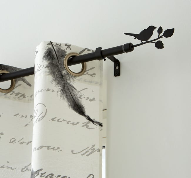 Kit De Tringle A Rideau Bird Diam 16 19 Mm Noir Mat 160 A 300 Cm Leroy Merlin