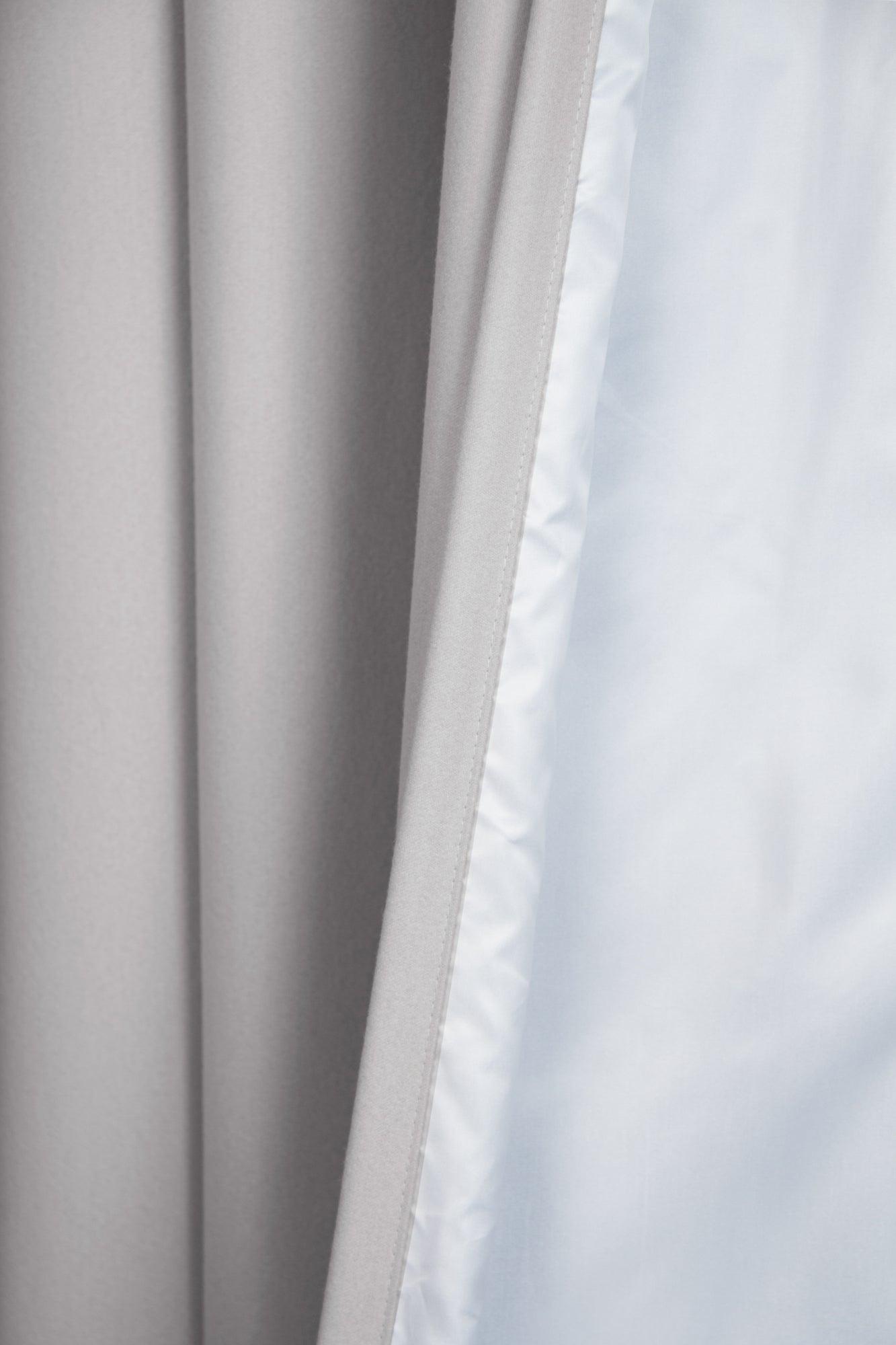 rideau occultant thermique gris galet l140 x h260 cm