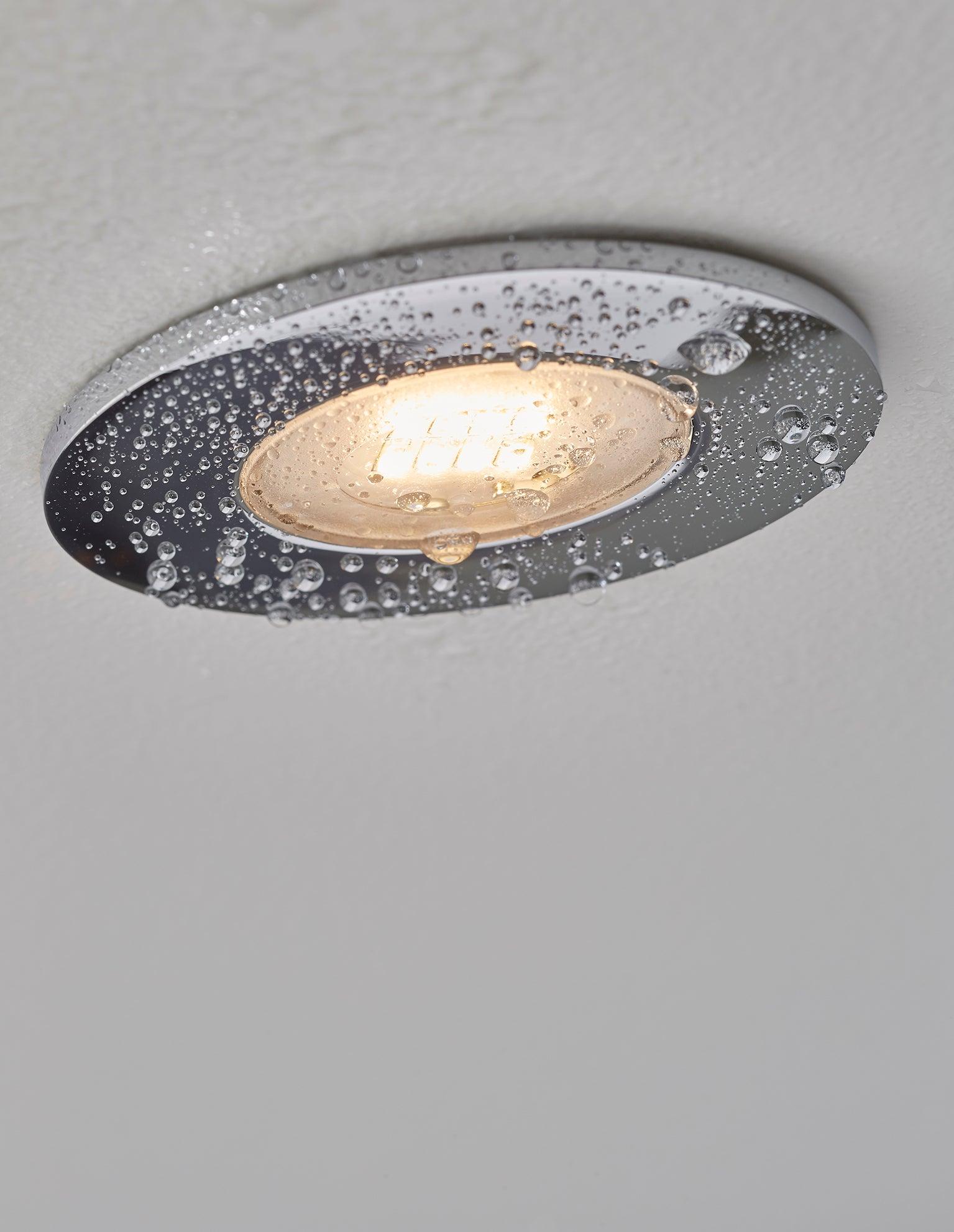 Kit 3 Spots A Encastrer Salle De Bains Kilia Fixe Inspire Led Integree Chrome Leroy Merlin