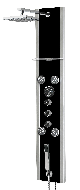 Valens 200mm 8/'/' Colonne de Douche Mural Thermostatique Syst/ème de Douche avec Showerpipe Pomme de Douche Ensemble de Douche avec Mitigeur Thermostatique et 2 Pommes de Douche