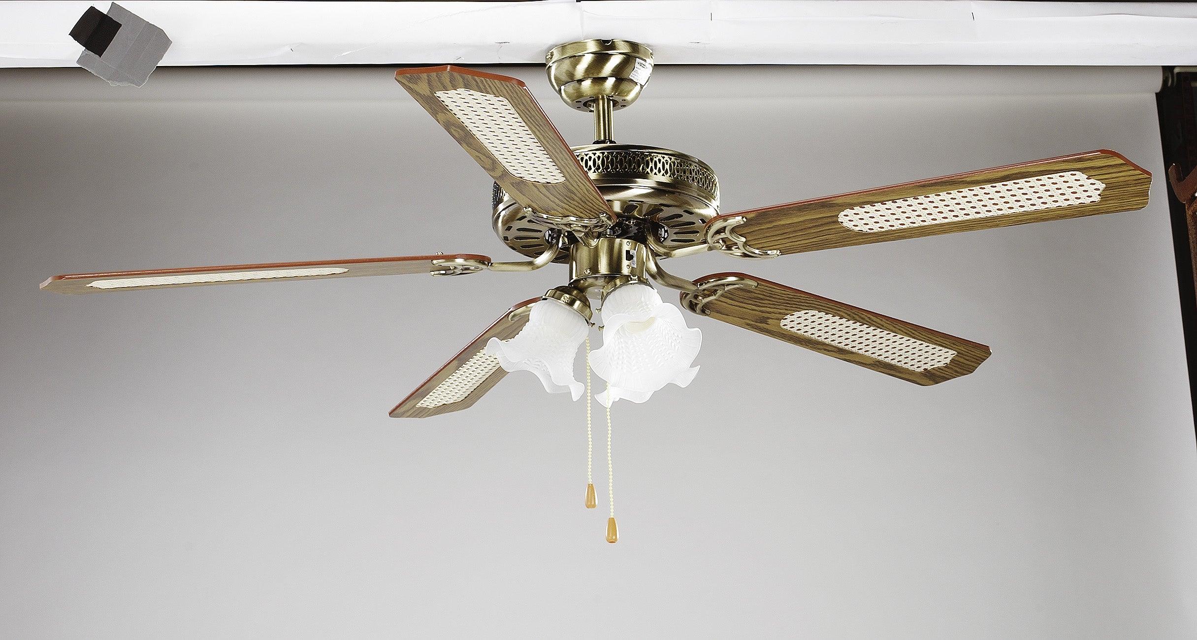 Ventilateur de plafond Reunion INSPIRE, chêne chêne canné, 60 W